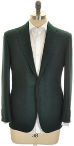 Kiton Sport Coat Jacket 2B Cashmere Silk 40 S 50 C Green