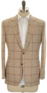 Kiton Sport Coat Jacket 'EGO' 2B Cashmere 40 50 Brown Windowpane