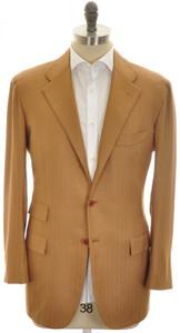 Kiton Sport Coat Jacket 3B Cashmere 42 52 Brown Herringbone