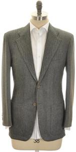 Kiton Sport Coat Jacket 2B Cashmere 40 50 Gray Herringbone