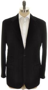 Kiton Sport Coat Jacket 3B Cotton Cashmere Velvet 42 52 Black