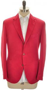 Boglioli 'Coat' Sport Coat Jacket 3B Cotton Linen 44 54 Red