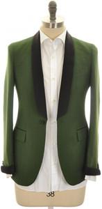 Boglioli 'Alton' Sport Coat 1B Shawl Cashmere Cotton Size 36 Green