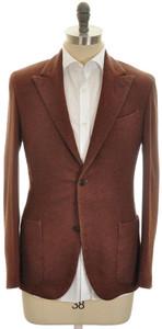 Boglioli 'K Jacket' Sport Coat 2B Peak 100% Cashmere Size 38 Brown