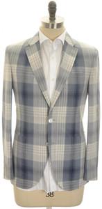 Boglioli 'Dover' Sport Coat Jacket 2B Silk Cotton Size 38 Blue Gray