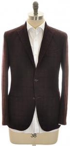 Boglioli 'K Jacket' Sport Coat 3B Wool Blend Size 38 Purple Black