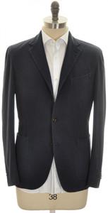 Boglioli 'Coat' 3B Sport Coat Jacket Silk Cotton Size 38 Blue