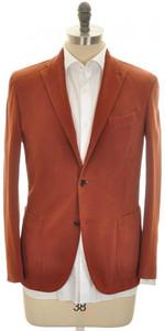 Boglioli 'K Jacket' 3B Sport Coat Cotton Stretch Size 38 Rust Brown