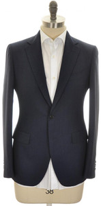 Boglioli 'Alton' 2B Sport Coat Jacket Wool Size 38 Blue Stripe