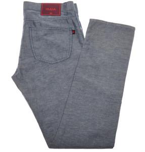 Isaia Napoli Denim Like Jeans Light Weight Cotton Linen 38 Blue