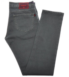 Isaia Napoli Selvedge Denim Jeans Cotton 30 Green-Gray