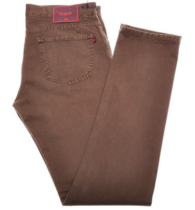 Isaia Napoli Selvedge Denim Jeans Cotton 33 Brown