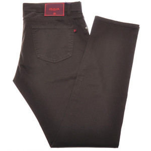 Isaia Napoli Denim Jeans Cotton Stretch 36 Dark Brown