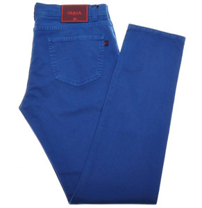 Isaia Napoli Denim Jeans Cotton Stretch 38 Blue