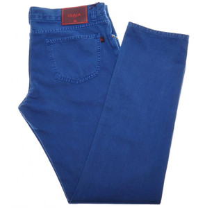 Isaia Napoli Selvedge Denim Jeans Cotton 44 Blue