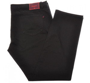Isaia Napoli Denim Jeans Cotton Stretch 46-US Black