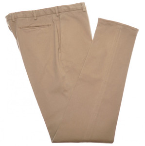 Incotex Dress Pants Washed Cotton Stretch Twill 38 54 Brown