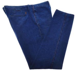 Incotex Dress Pants Cotton Denim 40 56 Blue