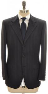 Brioni Suit 'Palatino' 3B Wool 150's 38 48 Blue Stripe