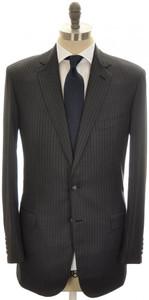 Brioni Suit 'Colosseo' 2B Wool 42L 52L Gray Stripe