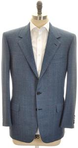 Brioni Sport Coat Jacket 'Palatino' Wool 46 56 Blue Brown