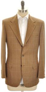 Brioni Sport Coat Jacket 'Palatino' Escorial 38 48 Brown Blue
