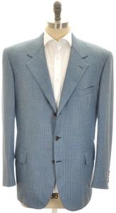 Brioni Sport Coat Jacket 'Palatino' Wool 46 56 Blue Green