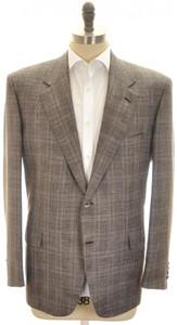 Brioni Sport Coat Jacket 'Palatino' Wool Blend 46 56 Gray Purple