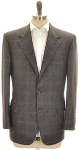 Brioni Sport Coat Jacket 'Palatino' Wool 42 52 Gray Purple