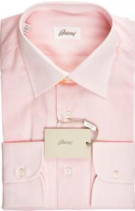 Brioni Dress Shirt Superfine Cotton 16 41 Pink