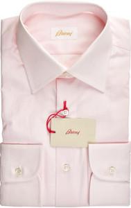 Brioni Dress Shirt Superfine Cotton 15 3/4 40 Pink