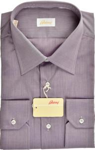 Brioni Dress Shirt Superfine Cotton 17 3/4 45 Purple