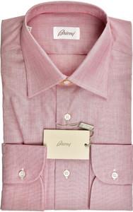 Brioni Dress Shirt Fine Cotton 15 3/4 40 Plum-Purple