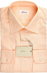 Brioni Dress Shirt Superfine Cotton 16 41 Orange