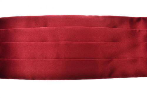 Brioni Cummerbund Silk Red