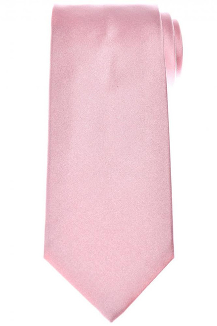 Isaia Napoli Tie Silk Pink Solid