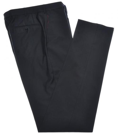 Isaia Napoli Dress Pants 130's 2-Ply Wool Size 38 Black
