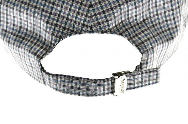 30ea6ba50907d ... Brioni Baseball Cap Hat Silk W  Logo Blue Purple Check 03CP0129
