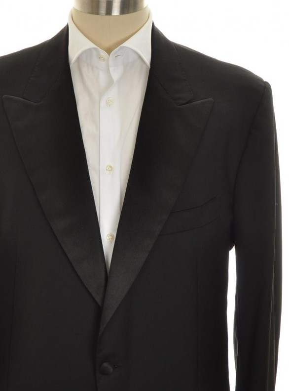 b9402457eed ... Kiton Sport Coat Tuxedo Jacket 1B Peak Lapel Wool 48 L 58 L Black  01SC0207 ...