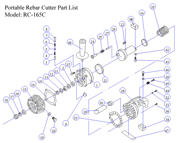RC-165C Parts and Exploded Diagram