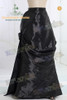Gothic Victorian Long Fur Decorated Floor Length 3Pcs Outfit*3colors