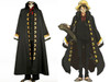 One Piece Movie 10 Strong World Cosplay,MONKEY·D·LUFFY Costume Trench Coat