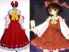 Touhou Project, Sui Musou Cosplay, Reimu Hakurei Costume Set