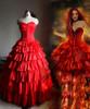Maria Padilha do Inferno, Star Pomba Gira Costume Red Corset Tiered Long Skirt
