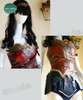 Wonder Woman Cosplay,  Adult Women Leather Armor Corset Skirt Costume Set