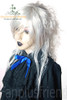 Last Chance: Visuak Kei Punk/Princess/Kodona Dandy Ouji/Cosplay:Smoke Slight Shock Curl Back Long Neat Bang Wig*Silver