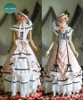 Dress+ Skirt+ Hat Set, with petticoats inside look