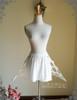 Steampunk Crinoline Petticoat Short Cage Skirt Hoop Skirt Black White