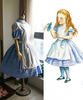 Alice's Adventures in Wonderland Cosplay, Alice  (Novel Illustration)  Dress & Apron Costume Set