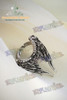 Gothic Punk Antique Silver Wings Ring